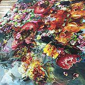 Футер 2-нитка петельный Цветочная симфония