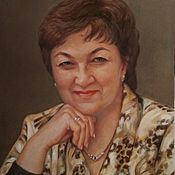handmade. Livemaster - original item Portrait oil painting on canvas in shades of brown.. Handmade.
