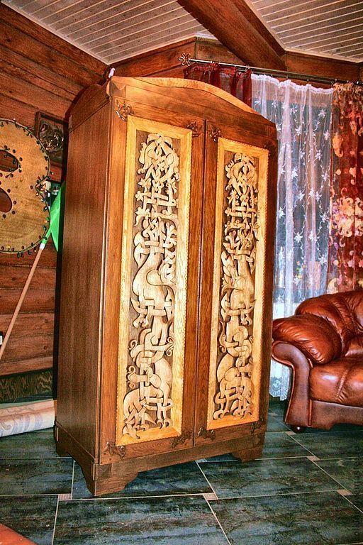 Мебель ручной работы. Ярмарка Мастеров - ручная работа. Купить шкаф. Handmade. Коричневый, массив дуба