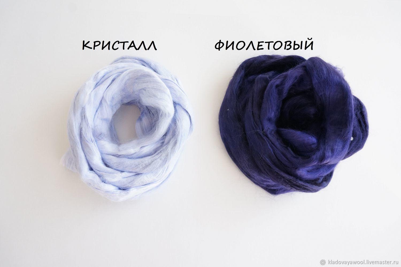 Вискоза для валяния  в ассортименте 50г, Войлок, Воронеж,  Фото №1