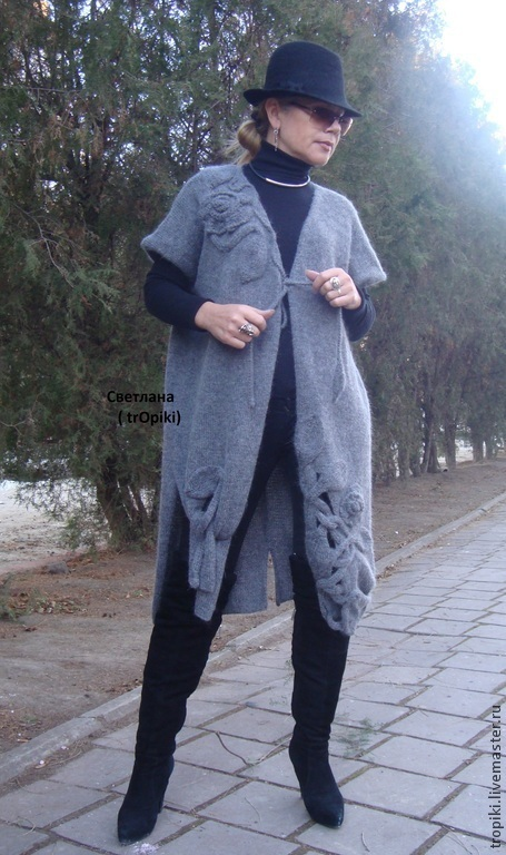 Кофты и свитера ручной работы. Заказать Пальто- кардиган  вязаное