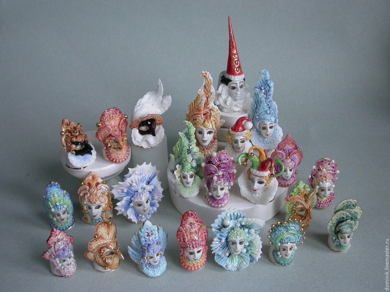 Венецианская маска - коллекционные напёрстки