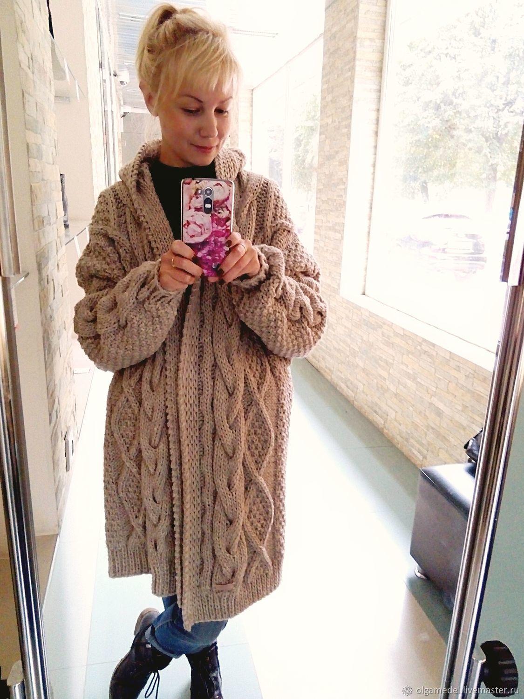 Coat knit in color beige, Coats, Yoshkar-Ola,  Фото №1