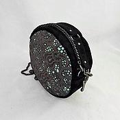 Сумки и аксессуары handmade. Livemaster - original item Round black suede bag
