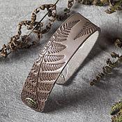 Украшения handmade. Livemaster - original item Cuff Bracelet with Snap Closure. Handmade.