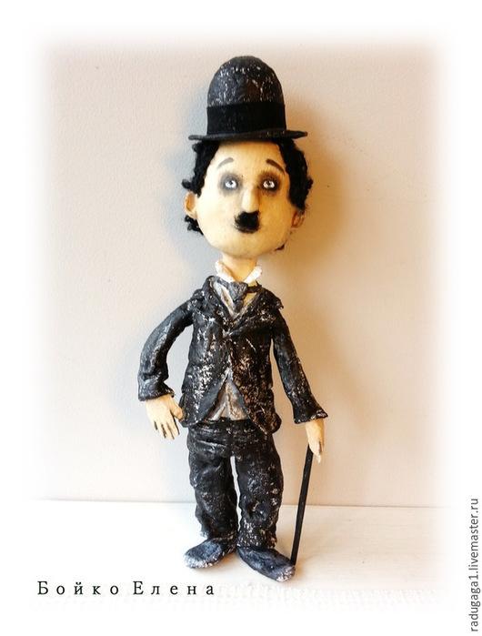 Коллекционные куклы ручной работы. Ярмарка Мастеров - ручная работа. Купить Чарли. Handmade. Черный, комедия, чёрно-белый