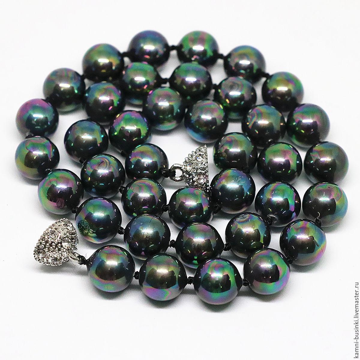 Жемчуг черный павлин Shell Pearl бусина шар. Жемчужные бусины для колье, бусины из жемчуга фриформ для браслетов, бусина из жемчуга для серег.