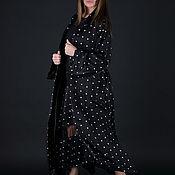 Одежда handmade. Livemaster - original item Black, long and elegant cardigan - VE0597CV. Handmade.