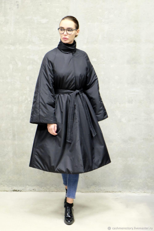 f2f45a7f6a7 Купить Пальто женское утепленное Черная Верхняя одежда ручной работы. Пальто  женское утепленное Черная Пантера. CONCEPT STORE. Интернет- ...