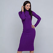 Одежда handmade. Livemaster - original item purple dress. Handmade.