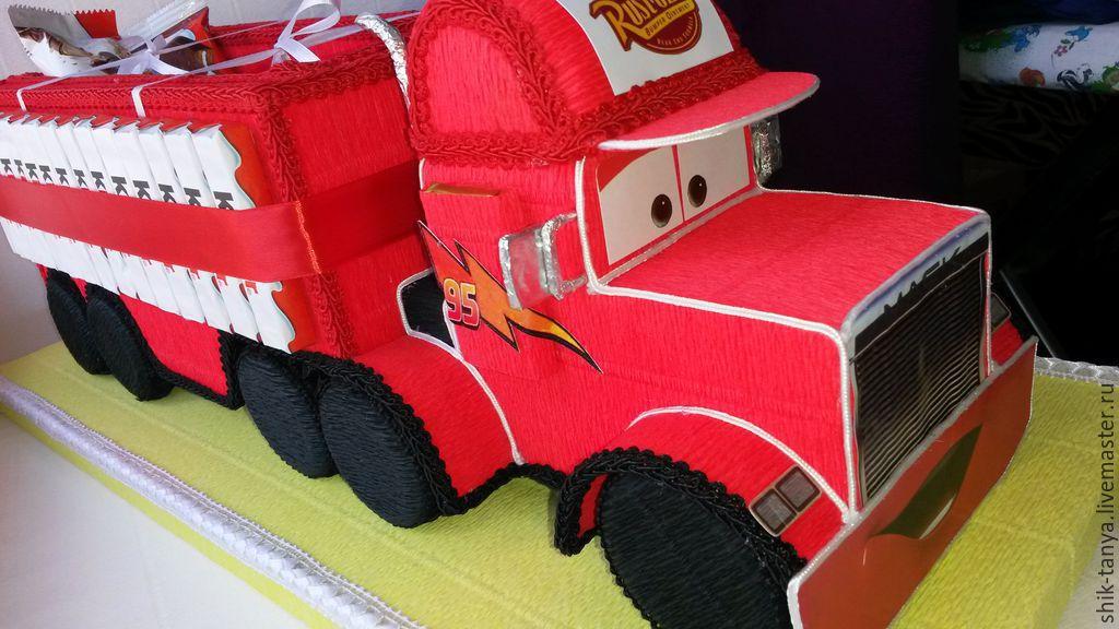 Киндер грузовик из конфет мастер класс