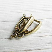 Материалы для творчества handmade. Livemaster - original item Earrings with locking bronze brass (art. 2631). Handmade.
