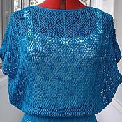 """Одежда ручной работы. Ярмарка Мастеров - ручная работа Туника """"голубая лагуна"""". Handmade."""