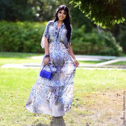 """Платья ручной работы. Ярмарка Мастеров - ручная работа. Купить Роскошное платье""""Морской калейдоскоп"""". Handmade. Тёмно-синий, дорогое платье"""