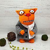 Куклы и игрушки handmade. Livemaster - original item I want to talk in verse! Soft toy red cat Vasya Lozhkina. Handmade.