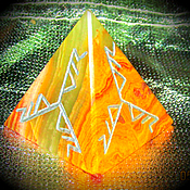 Amulet handmade. Livemaster - original item The pyramid is the mascot of the
