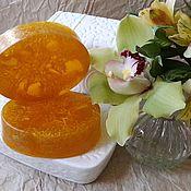 """Мыло ручной работы. Ярмарка Мастеров - ручная работа Мыло """"Апельсиновое с люффой"""". Handmade."""