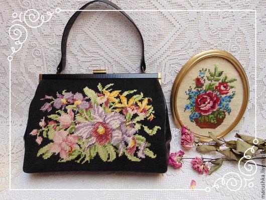 Винтажные сумки и кошельки. Ярмарка Мастеров - ручная работа. Купить Винтажная женская  сумка-ридикюль с вышивкой, Австрия. Handmade.