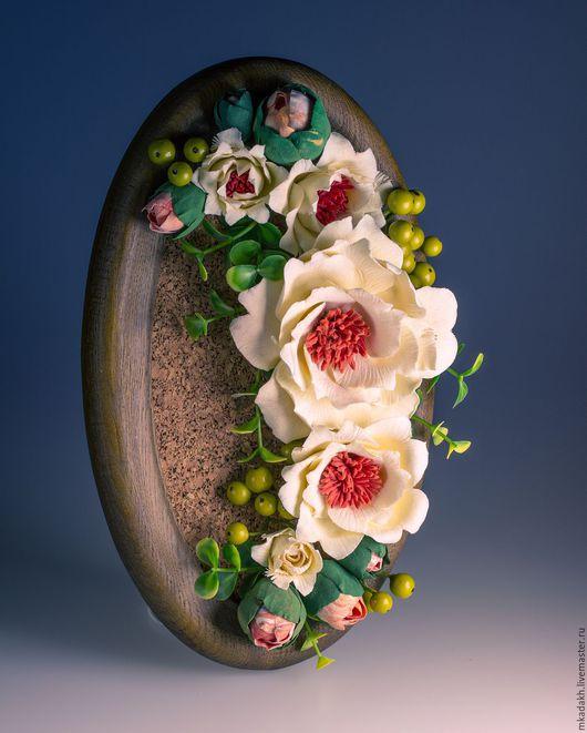 Интерьерные композиции ручной работы. Ярмарка Мастеров - ручная работа. Купить Настенное панно. Handmade. Комбинированный, цветы ручной работы