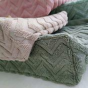 Сумки и аксессуары handmade. Livemaster - original item Cosmetic bag Terry light green cotton. Handmade.