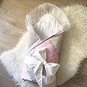 Работы для детей, ручной работы. Ярмарка Мастеров - ручная работа Конверт на выписку для девочки . Лоскутное одеяло. Handmade.