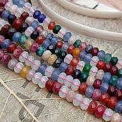 Материалы для творчества handmade. Livemaster - original item thread Jadeite faceted Rondell 4-5h3 mm (art. 3118). Handmade.