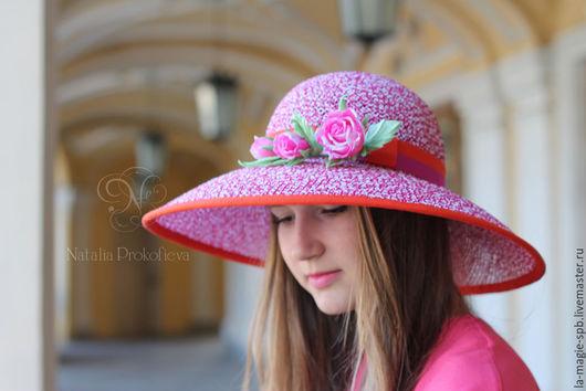 """Шляпы ручной работы. Ярмарка Мастеров - ручная работа. Купить Соломенная шляпа """"Un jour d'ete"""" (Летний день). Handmade."""