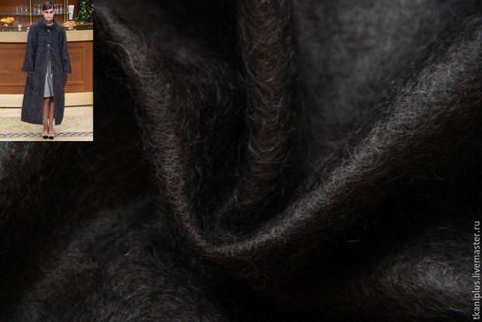 Шитье ручной работы. Ярмарка Мастеров - ручная работа. Купить Остаток. Loro Piana. Мохеровое полотно.  Антрацит. Италия.. Handmade.