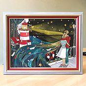 Картины и панно handmade. Livemaster - original item Painting on glass