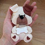 """Куклы и игрушки ручной работы. Ярмарка Мастеров - ручная работа """"Пёсик"""" игрушка из фетра. Handmade."""