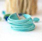 Украшения ручной работы. Ярмарка Мастеров - ручная работа Браслет шнур голубой Летний вечер. Handmade.