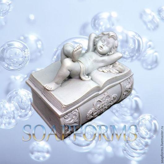 Силиконовая форма для мыла `Ангел - шкатулка`