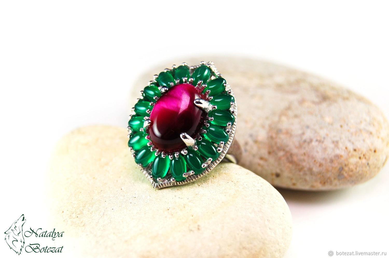 Модные украшения серебряное кольцо зеленый натуральный халцедон кольца изменение размера размеры кольца для для женщин выс туманно-зелёный хризопраз - камень двойственный!