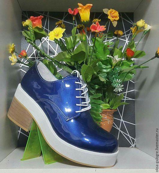 Обувь ручной работы. Ярмарка Мастеров - ручная работа. Купить Ботинки. Handmade. Комбинированный, туфли женские