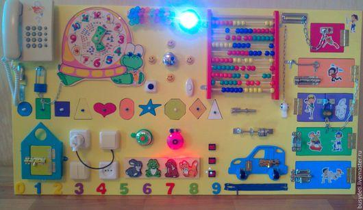 Развивающие игрушки ручной работы. Ярмарка Мастеров - ручная работа. Купить Бизиборд большой. Handmade. Бизиборд, бизиборд на заказ, доска с замочками