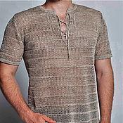 Одежда handmade. Livemaster - original item Linen yarn .Shirt Mesh small. Handmade.