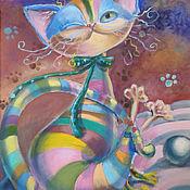 Картины и панно handmade. Livemaster - original item Funny cat. Handmade.