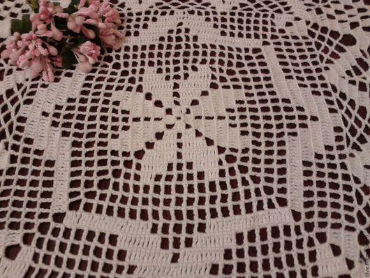 Текстиль, ковры ручной работы. Ярмарка Мастеров - ручная работа. Купить Салфетка.. Handmade. Белый, хлопок 100%