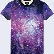 """Одежда ручной работы. Ярмарка Мастеров - ручная работа Мужская футболка """"Галактика"""". Handmade."""