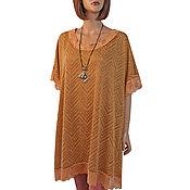 Одежда handmade. Livemaster - original item Orange tunic made of soft knitted knitwear. Handmade.