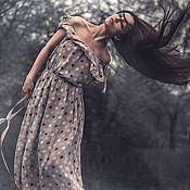 Одежда ручной работы. Ярмарка Мастеров - ручная работа Платье в пол Шифоновое драже. Handmade.