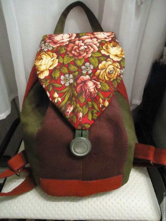 """Рюкзаки ручной работы. Ярмарка Мастеров - ручная работа. Купить Рюкзак """"Бордовый"""". Handmade. Бордовый, рюкзак из ткани, купить рюкзак"""