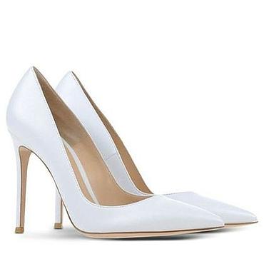 Обувь ручной работы. Ярмарка Мастеров - ручная работа Туфли женские белого цвета. Handmade.