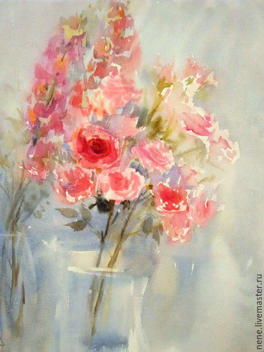 Акварель `Имя розы` картина