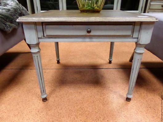 """Мебель ручной работы. Ярмарка Мастеров - ручная работа. Купить Журнальный стол """"Деловые люди"""". Handmade. Серый, мебель для дачи"""