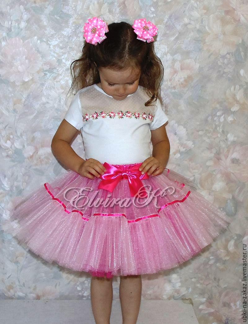007910c8a3e Пышная юбка для девочки из фатина