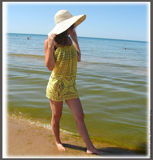 Пляжные платья ручной работы. Ярмарка Мастеров - ручная работа. Купить Пляжное платье-туника. Handmade. Платье, пляжная мода