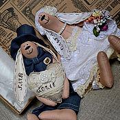Куклы и игрушки ручной работы. Ярмарка Мастеров - ручная работа Зайки для Ольги. Handmade.