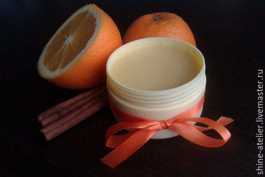 """Масла и смеси ручной работы. Ярмарка Мастеров - ручная работа. Купить Взбитое масло для тела """"Апельсин и корица"""". Handmade. Рыжий"""