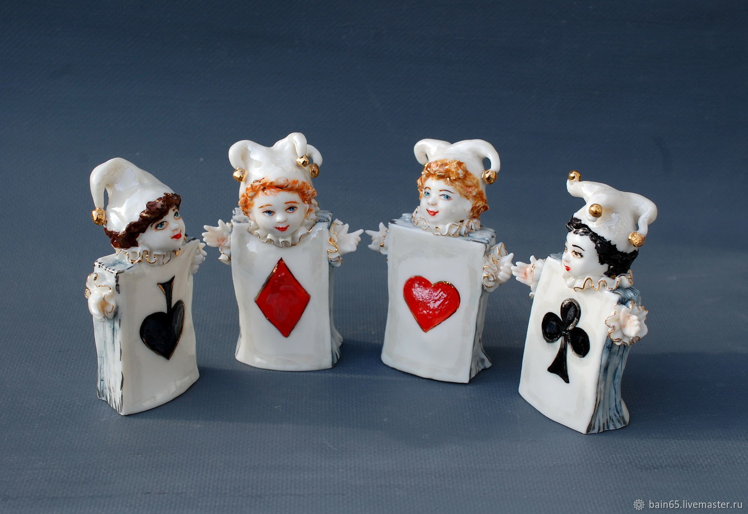 'Aces ' Porcelain figurines-bells, Figurines, Moscow,  Фото №1